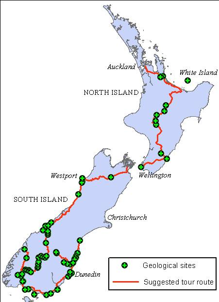 NZ routes and stops